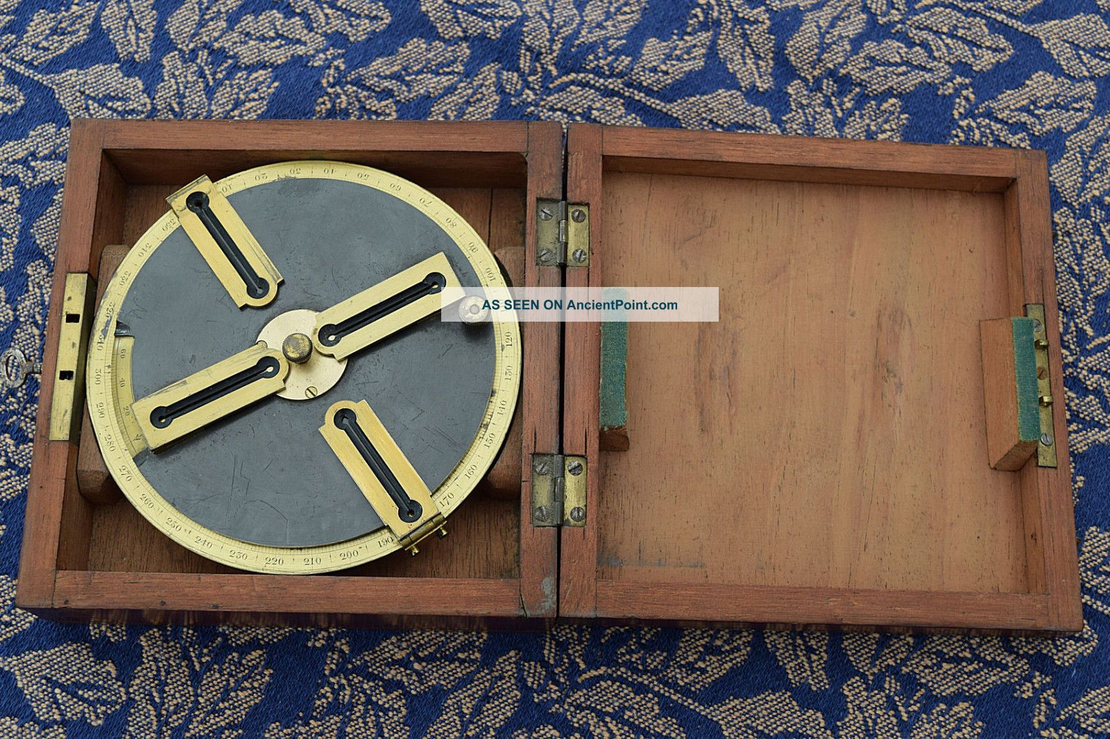Georgian Circumferentor Graphometer In Mahogany Box Surveyor Surveying Other Antique Science Equip photo