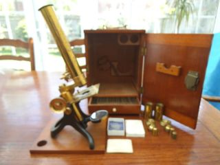 Antique Brass Microscope photo