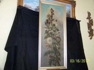 C1883 - 1885 Oil On Canvas Floral Still Life Painting photo