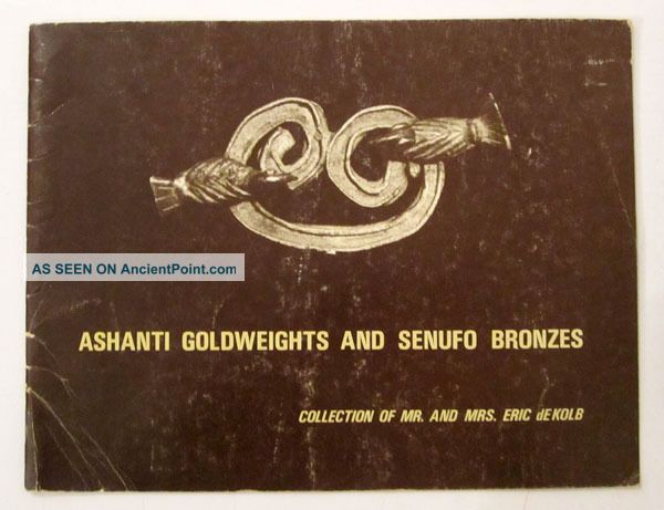 African Tribal Art Ashanti Goldweights,  Senufo Bronzes Eric De Kolb Collect 1970 Other African Antiques photo