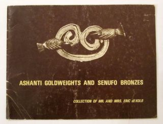 African Tribal Art Ashanti Goldweights,  Senufo Bronzes Eric De Kolb Collect 1970 photo