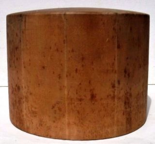 Antique Wood Wooden Millenery Hat Form Block Mold Crown photo