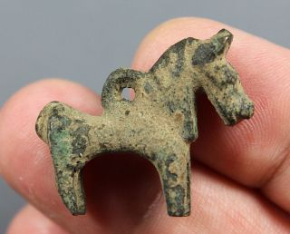 Horse,  Bronze Pendant,  Loop To The Back,  Middle Eastern,  1200 - 800 Bc photo