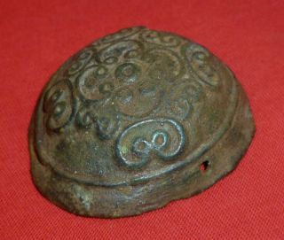 Very Rare Viking Ancient Bronze Turtle Fibula / Brooches Circa 700 - 800 Ad photo