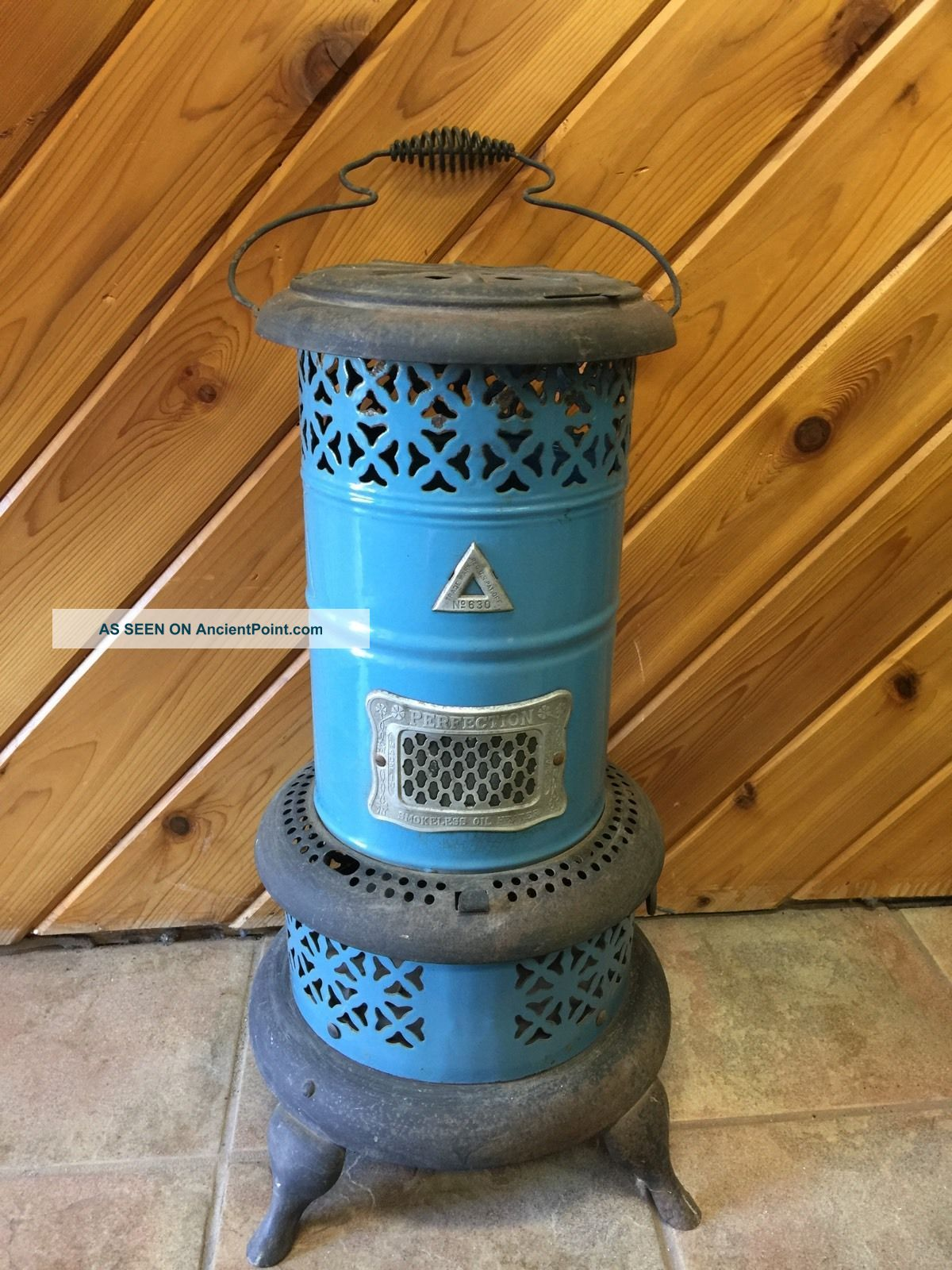 American Made Antique 1900 ' S Perfection Smokeless Oil Heater/stove No 630 Stoves photo