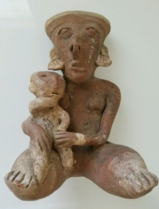 Unique Pre - Columbian Terracotta Nayarit Figure photo