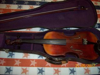 Old,  Vintage Or Antique 1892 Violin With Bow & Case photo