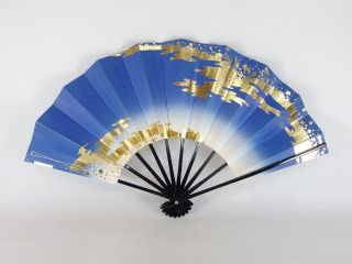 Japanese Antique Vintage Maiougi Maisen Folding Fan For Japanese Dancing Chacha photo