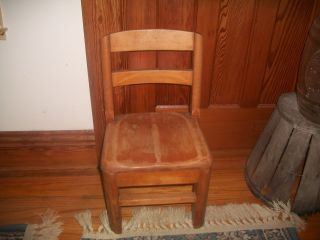 Antique Wooden Child ' S School Desk Chair,  Sunday School Classroom Chair Sturdy photo