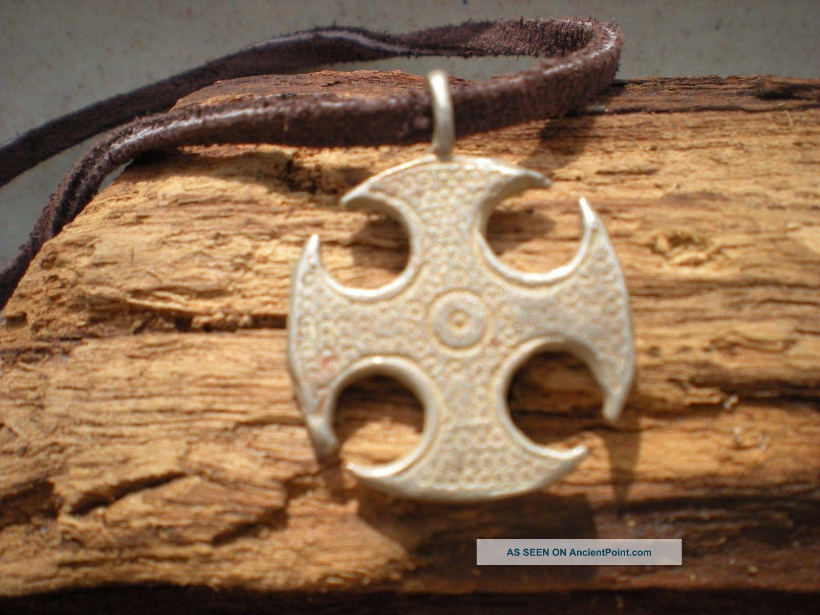 Viking Silver Amulet Cross Pendant 900 - 1000 Ad.  Rare Viking photo