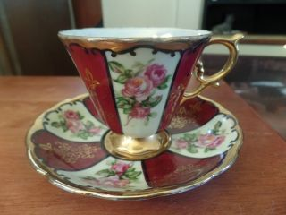 Royal Sealy Bone China Tea Cup W/ Saucer - Japan 1352 photo