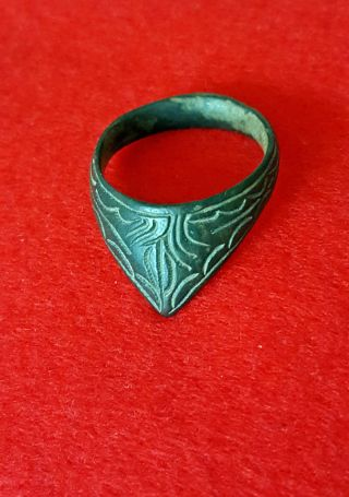 Ancient Roman : Marvelous And Stunning Archer ' S Thumb Ring photo
