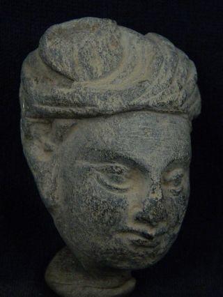 Ancient Stone Bodhasattva Head Gandhara/gandharan 100 Ad Stn210 photo