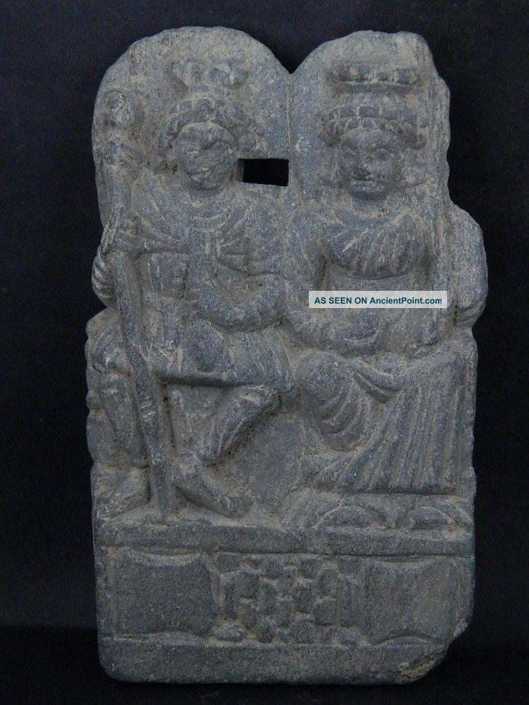 Ancient Large Size Stone Punchika Hariti Gandhara/gandharan 200 Ad Ik448 Near Eastern photo