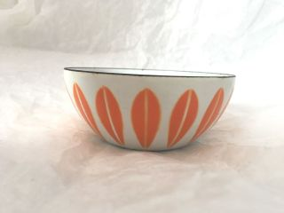 Vintage 1950 60 ' S Norwegian Enamel Lotus Bowl By Catherine Holm,  4