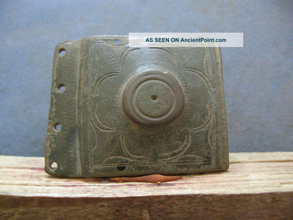 Perfect Belt Buckle Ancient Celtic Bronze Warriors Decoration 400 - 200 B.  C.  50 Mm Celtic photo