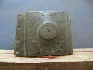 Perfect Belt Buckle Ancient Celtic Bronze Warriors Decoration 400 - 200 B.  C.  50 Mm photo