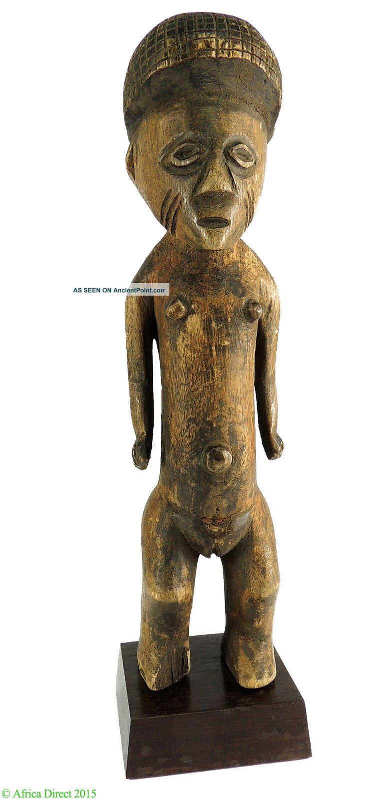 Zande (azande) Figure Female On Custom Stand Congo Africa Sculptures & Statues photo