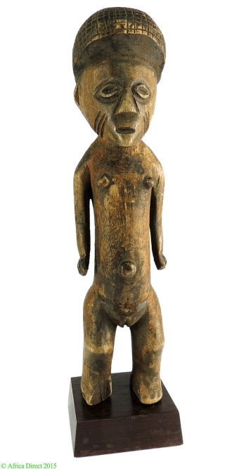 Zande (azande) Figure Female On Custom Stand Congo Africa photo