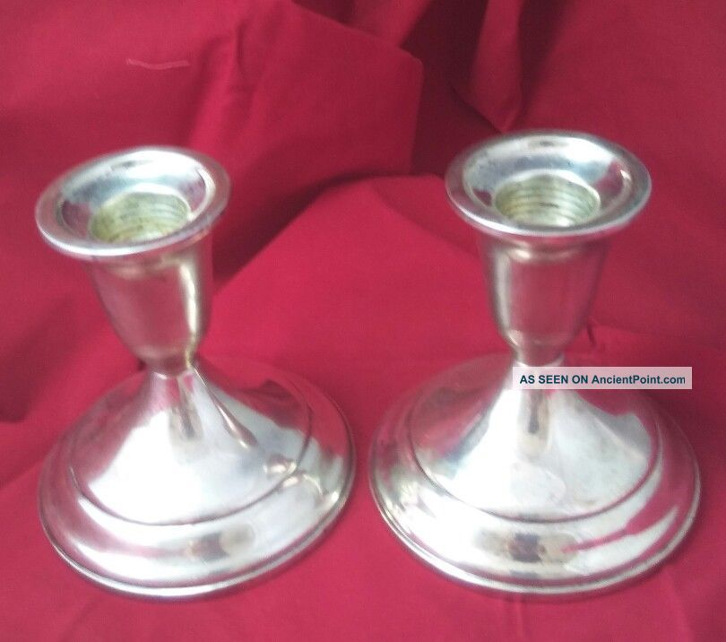 . 925 Sterling Silver.  Candle Stick Holders Signed By Towle Silver Not Scrap Candlesticks & Candelabra photo