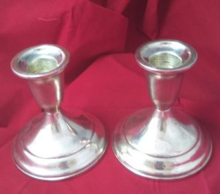. 925 Sterling Silver.  Candle Stick Holders Signed By Towle Silver Not Scrap photo