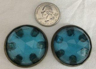 Antique Cast Iron Parlor Stove Part Blue Glass Jewel Finial Decoration Emrich Co photo