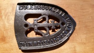 Vintage Colebrookdale Cast Iron Trivet Made In Pottstown,  Pa. photo