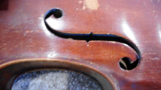 Early European Antique Violin With Carved Chin Rest photo