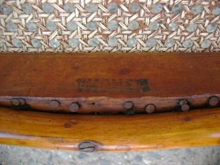 Antique Vintage Thonet Side Chair Cane Bent Wood England photo