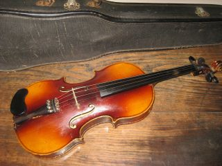 Antique Antonius Stradivarius 4/4 Violin Made In Czechoslovakia photo
