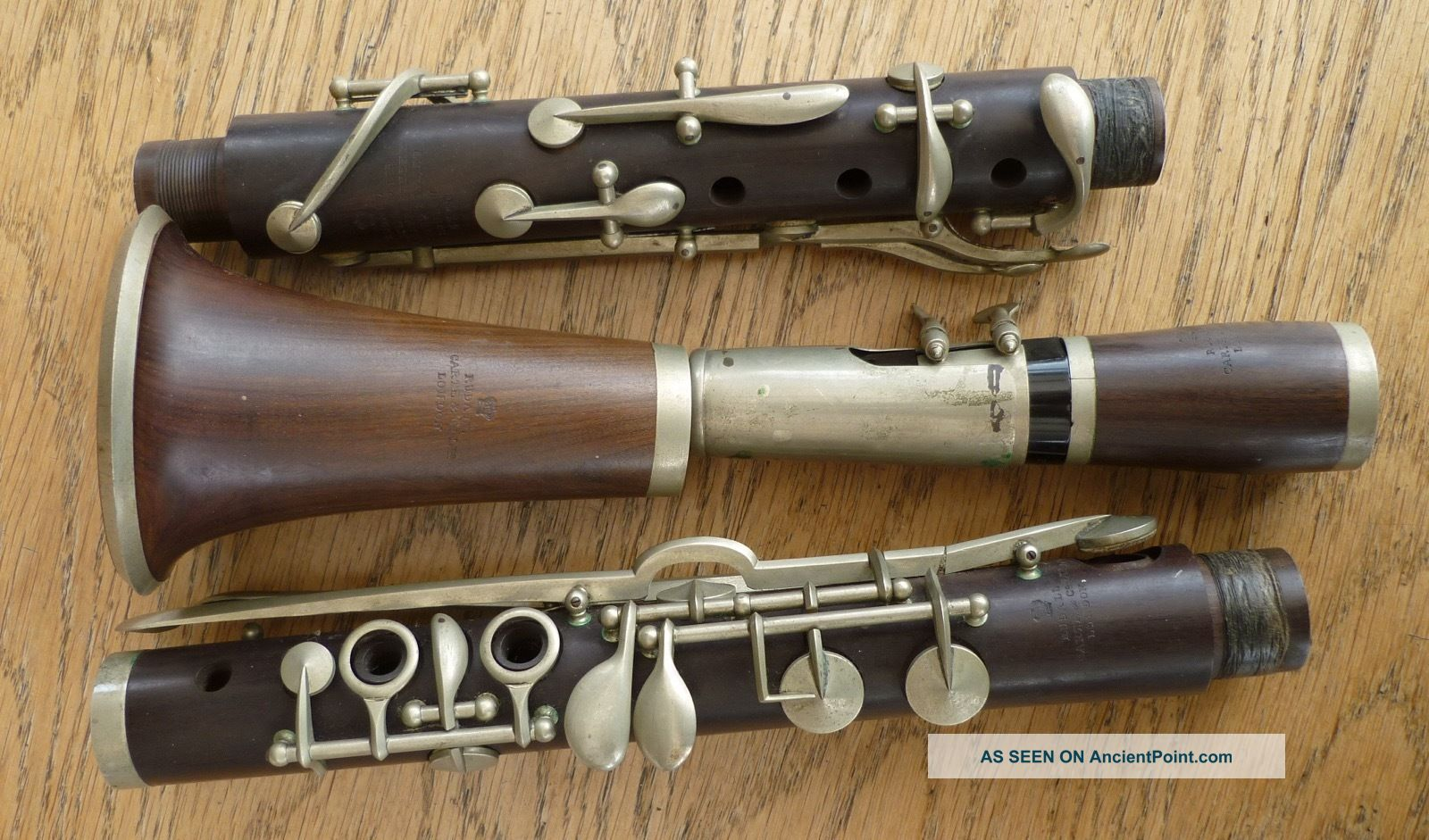 Vintage Rosewood Clarinet - Made By Rudall,  Carte & Co.  Ltd.  In Case Wind photo