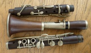 Vintage Rosewood Clarinet - Made By Rudall,  Carte & Co.  Ltd.  In Case photo