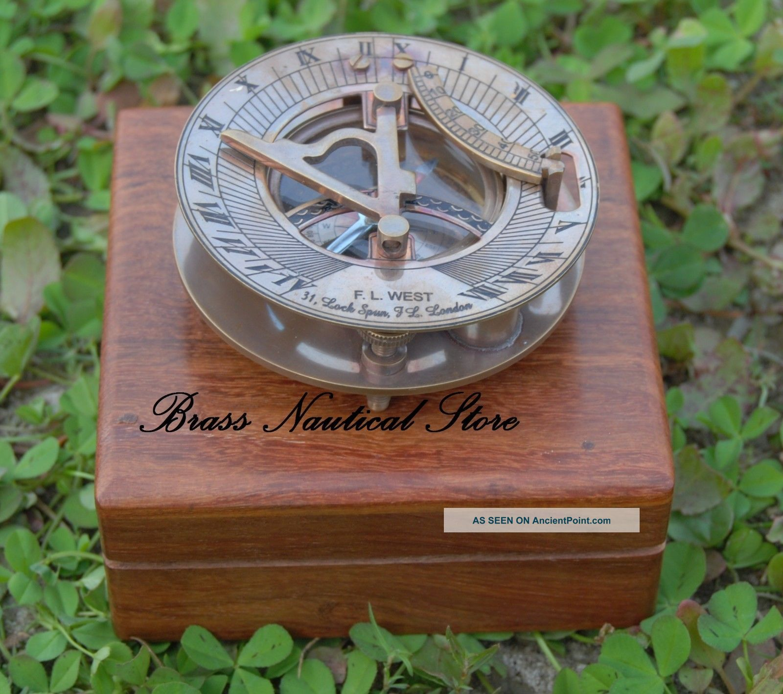 Antique Maritime West London Vintage Brass Sundial Compass Nautical Decor Gift See more Vintage Maritime West London Antique Brass Sun... photo