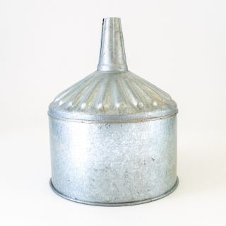 Vintage Shiny Galvanized Tin 12