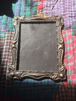Lovely Art Nouveau Antique Copper Photo Picture Frame C.  1910 photo