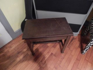 Antique/vintage Piano Bench With Storage photo