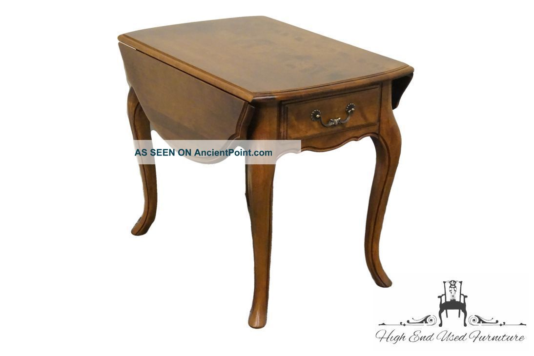 Ethan Allen Country French Drop Leaf End Table 236 Fruitwood Finish 26 - 8302 Post-1950 photo