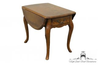 Ethan Allen Country French Drop Leaf End Table 236 Fruitwood Finish 26 - 8302 photo