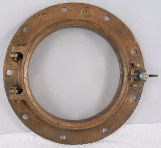 Antique Bronze Porthole Salvaged Wilcox Crittenden Wc 7 Nautical Decor Maratime photo