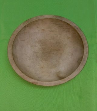 Vintage Munising Wood Bowl Chopping Dough Salad Bowl 9.  25