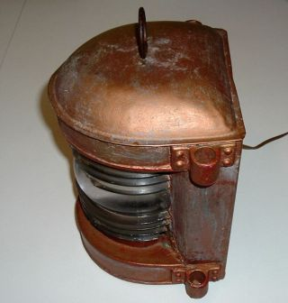 Antique Circa 1916 ?? Perko Ship Lantern Converted To Electric photo