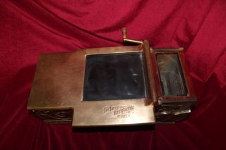 Antique 1930 Brass And Nickel Receipt Register By Egry Register Co. photo