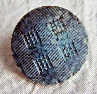 Antique Vintage Glass Button Slag Glass 231a photo