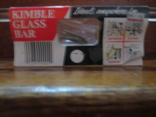 Nos Kimble Vintage Bent Glass Towel Bar 2 Available 25