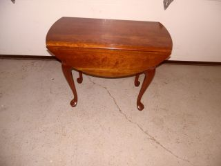 Pennsylvania House Cherry Queen Anne Style Drop Leave Table photo
