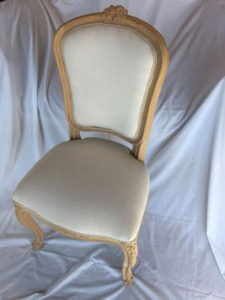 Unfinish French Style Hand Carved Chair photo