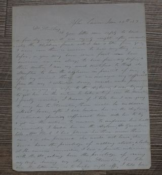 1853 Western Lunatic Asylum Letter - Husband Commits Wife - Dr.  Stribling photo