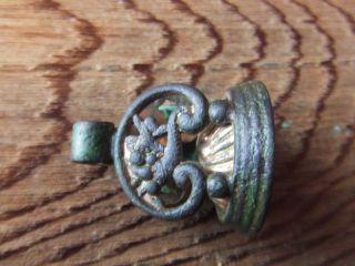 Georgian Period.  Gilt Bronze Seal 18th/19th Century. photo