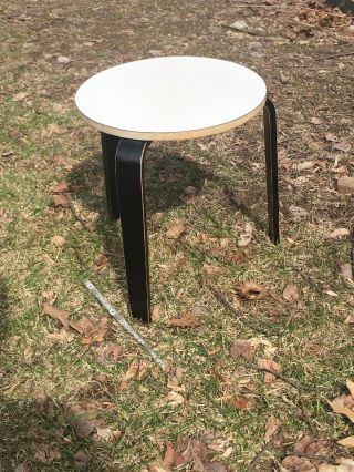 Early Alvar Aalto Era Bent Wood Stool Chair Table Mid Century Modern photo