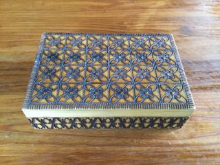 Very Decorative Hinged Wooden Box photo